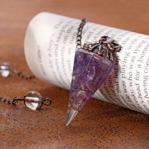 pendule divinatoire amethyste